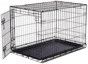 AmazonBasics Cage pliante en métal avec 1porte pour chien TailleL de la marque AmazonBasics image 0 produit