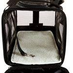 AmazonBasics Sac de transport à parois souples pour animal de compagnie Noir TailleM de la marque AmazonBasics image 5 produit