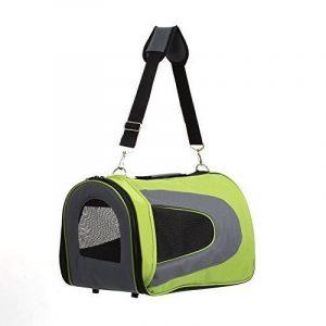 Amzdeal Sac de transport pour Animal Chien Chat Sac pliable à main ou à épaule de transport en Tissu Oxford Taille M (Vert) de la marque Amzdeal image 0 produit