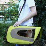 Amzdeal Sac de transport pour Animal Chien Chat Sac pliable à main ou à épaule de transport en Tissu Oxford Taille M (Vert) de la marque Amzdeal image 6 produit