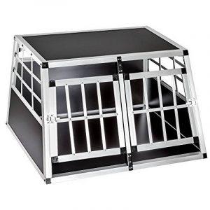 Cage box caisse de transport chien mobile aluminium XXL double de la marque TecTake image 0 produit