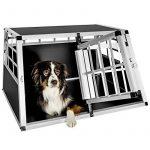 Cage box caisse de transport chien mobile aluminium XXL double de la marque TecTake image 1 produit