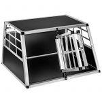Cage box caisse de transport chien mobile aluminium XXL double de la marque TecTake image 2 produit