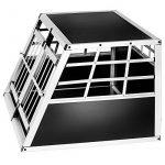 Cage box caisse de transport chien mobile aluminium XXL double de la marque TecTake image 3 produit
