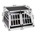 Cage box caisse de transport chien mobile aluminium XXL double de la marque TecTake image 6 produit