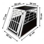 Cage box caisse de transport en voiture auto chien aluminium &MDF XXL de la marque vidaXL image 2 produit