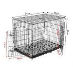 Cage caisse de transport chien pliable fil d'acier 2 portes avec coussin poignée 91L x 61l x 67Hcm noir neuf 33 de la marque Pawhut image 1 produit