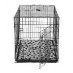 Cage caisse de transport chien pliable fil d'acier 2 portes avec coussin poignée 91L x 61l x 67Hcm noir neuf 33 de la marque Pawhut image 3 produit