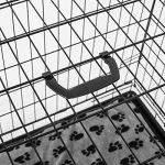 Cage caisse de transport chien pliable fil d'acier 2 portes avec coussin poignée 91L x 61l x 67Hcm noir neuf 33 de la marque Pawhut image 6 produit