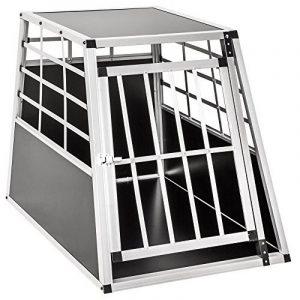Cage de transport chien aluminium pour transport en voiture single (65/90/69,5cm) de la marque TecTake image 0 produit
