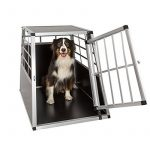 Cage de transport chien aluminium pour transport en voiture single (65/90/69,5cm) de la marque TecTake image 1 produit