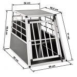 Cage de transport chien aluminium pour transport en voiture single (65/90/69,5cm) de la marque TecTake image 5 produit