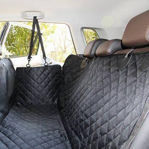 ELITIST Housse de siège auto de chien Imperméable Facile à nettoyer Housse de protection de banquette arrière de voiture Housse de siège de voiture en cuir,140*130cm Noir Tous les modèles s'appliquent de la marque ELETIST image 0 produit