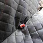 ELITIST Housse de siège auto de chien Imperméable Facile à nettoyer Housse de protection de banquette arrière de voiture Housse de siège de voiture en cuir,140*130cm Noir Tous les modèles s'appliquent de la marque ELETIST image 6 produit
