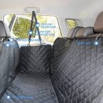 ELITIST Housse de siège auto de chien Imperméable Facile à nettoyer Housse de protection de banquette arrière de voiture Housse de siège de voiture en cuir,140*130cm Noir Tous les modèles s'appliquent de la marque ELETIST image 5 produit