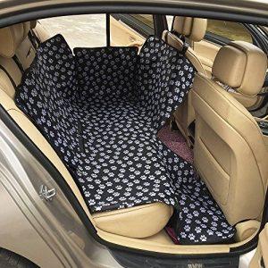 FREESOO LONG Housse de siège auto de chien Imperméable Facile à nettoyer Housse de protection de banquette arrière de voiture Housse de siège de voiture en tissu imperméable Oxford,130*150*55CM Noir Tous les modèles s'appliquent de la marque FREESOO image 0 produit