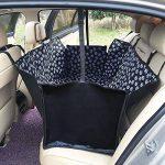 FREESOO LONG Housse de siège auto de chien Imperméable Facile à nettoyer Housse de protection de banquette arrière de voiture Housse de siège de voiture en tissu imperméable Oxford,130*150*55CM Noir Tous les modèles s'appliquent de la marque FREESOO image 1 produit