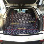 FREESOO Siège arrière Housse de siège auto de chien Imperméable Facile à nettoyer Housse de protection de banquette arrière de voiture Housse de siège de voiture en tissu imperméable Oxford,155cm*104cm*33cm Noir Tous les modèles s'appliquent de la mar image 1 produit