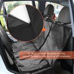 GHB Housse pour Chien Voiture Protection pour Voiture Couverture pour Chien Double Zips Imperméable et Anti-Rayures Universelle pour Voiture Camion SUV-Noir de la marque GHB image 1 produit