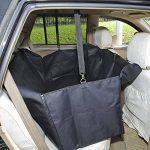 GHB Housse pour Chien Voiture Protection pour Voiture Couverture pour Chien Double Zips Imperméable et Anti-Rayures Universelle pour Voiture Camion SUV-Noir de la marque GHB image 2 produit