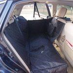 Housse de siège de voiture pour chien Pet Protection de hamac lavable à l'eau pour les voitures SUV et camion, étanche et non glissière Backing et ceinture de sécurité, noir (140x150x45cm) de la marque Anfayejia image 2 produit