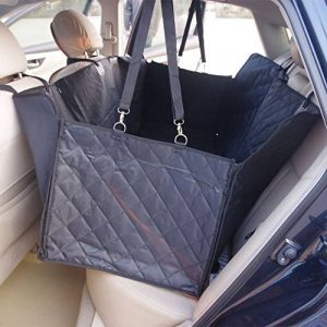 Housse de siège de voiture pour chien Pet Protection de hamac lavable à l'eau pour les voitures SUV et camion, étanche et non glissière Backing et ceinture de sécurité, noir (140x150x45cm) de la marque Anfayejia image 0 produit