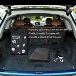 Housse de Siège pour Chien 152x147cm, Winipet Protection de Banquette Siège Arrière Imperméable Hamac avec Sac et Ceinture de Sécurité de Chien, XL, Taille Universelle pour Voiture/ SUV/ Camion de la marque Winipet image 6 produit