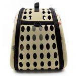 Itian Sac de transport pour animal de compagnie chien chat cage de Voyage caisse pliable Sac a main en forme de coeur (Jaunâtre) de la marque Itian image 4 produit