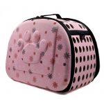 Itian Sac de transport pour animal de compagnie chien chat cage de Voyage caisse pliable Sac a main en forme de coeur (Rose) de la marque Itian image 1 produit