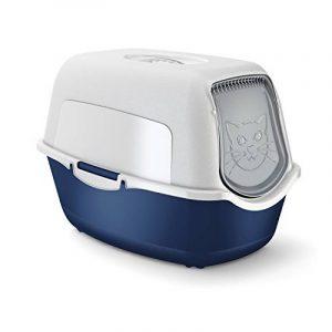 Maison de toilette pour chat bleue / blanche de la marque Rothobabydesign image 0 produit