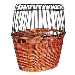 Panier vélo avec grille de protection, 44 × 48 × 33 cm, fauve, pour chat/petit chien de la marque Trixie image 0 produit