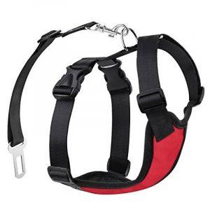 Pawaboo Chien Chiot Sangle de Sécurité pour le Voyage, Dans la Voiture, Promenade etc,Convient au Poids de Chien entre 4.4 lb- 11 lbs , Rouge de la marque Pawaboo image 0 produit