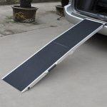 Rampe pour les chiens pliable aluminium, surface antidérapante, 184x49x5cm 110 kg de la marque WilTec image 5 produit