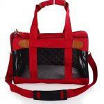 Rouge et souple de côté, sac de voyage accepté par les compagnies aériennes pour transporter les animaux domestiques, sac de transport portable pour chiens, chats et chiots de la marque hanhefen image 4 produit