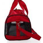 Rouge et souple de côté, sac de voyage accepté par les compagnies aériennes pour transporter les animaux domestiques, sac de transport portable pour chiens, chats et chiots de la marque hanhefen image 5 produit