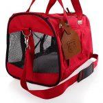 Rouge et souple de côté, sac de voyage accepté par les compagnies aériennes pour transporter les animaux domestiques, sac de transport portable pour chiens, chats et chiots de la marque hanhefen image 2 produit