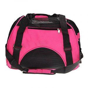 Sac de transport - SODIAL(R)Sac de transport de voyage pour chien chat Sac d'animal de compagnie en tissu rose de la marque SODIAL(R) image 0 produit