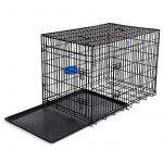 Songmics 2 Portes Cage Pour Chien - Pliable et Transportable - avec Poignée et Plateau (XXL: 122 x 76 x 81 cm, Noir) de la marque Songmics image 2 produit