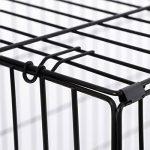 Songmics 2 Portes Cage Pour Chien - Pliable et Transportable - avec Poignée et Plateau (XXL: 122 x 76 x 81 cm, Noir) de la marque Songmics image 5 produit