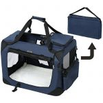 Songmics Caisse De Transport Pliable Pour Chien bleu foncé - L 70 x 52 x 52 cm de la marque Songmics image 5 produit