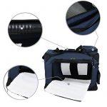 Songmics Caisse De Transport Pliable Pour Chien bleu foncé - L 70 x 52 x 52 cm de la marque Songmics image 6 produit