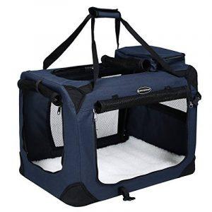 Songmics Caisse De Transport Pliable Pour Chien bleu foncé - S 50 x 35 x 35 cm de la marque Songmics image 0 produit