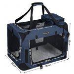 Songmics Caisse De Transport Pliable Pour Chien bleu foncé - S 50 x 35 x 35 cm de la marque Songmics image 2 produit