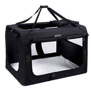 Songmics Caisse De Transport Pliable Pour Chien noir - S 50 x 35 x 35 cm de la marque Songmics image 0 produit