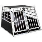 TecTake Cage Box Caisse de Transport pour Chien Mobile Aluminium - diverses tailles au choix - (Double/grand | No. 400652) de la marque TecTake image 1 produit