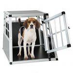 TecTake Cage box caisse de transport pour chien mobile aluminium single 54x69x50cm de la marque TecTake image 1 produit