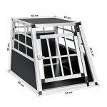 TecTake Cage box caisse de transport pour chien mobile aluminium single 54x69x50cm de la marque TecTake image 5 produit