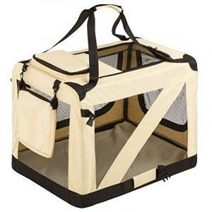 TecTake Cage sac box caisse de transport pour chien chat mobile L pliable beige 69x50x52cm de la marque TecTake image 0 produit