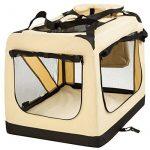 TecTake Cage sac box caisse de transport pour chien chat mobile L pliable beige 69x50x52cm de la marque TecTake image 2 produit