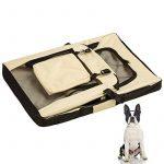 TecTake Cage sac box caisse de transport pour chien chat mobile L pliable beige 69x50x52cm de la marque TecTake image 5 produit